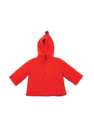 Zeyland Ponponlu Kapüşonlu Pamuk Astarlı Örgü Ceket (6-18ay) Ponponlu Kapüşonlu Pamuk Astarlı Örgü Ceket (6-18ay) Kırmızı
